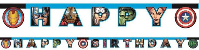 Geburtstags Girlande MIGHTY Avengers Power