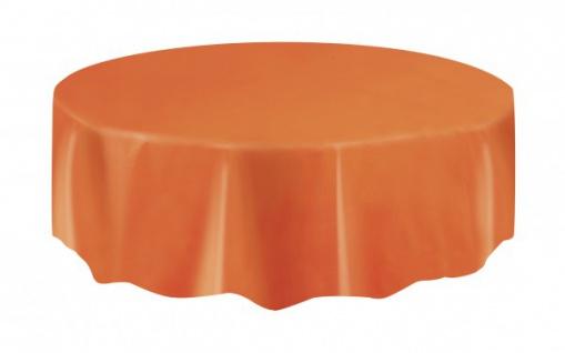 Runde Plastik Tischdecke Orange