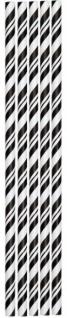 24 Papier Trinkhalme schwarz weiß gestreift - Vorschau 1
