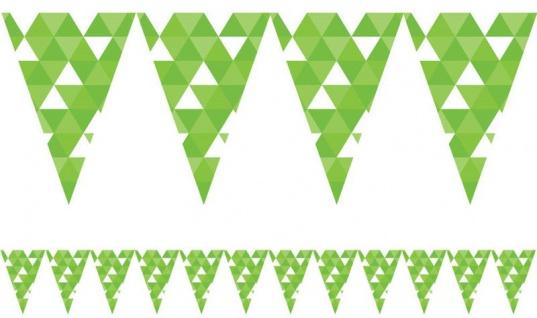 Wimpel Banner Fractals Limonen Grün