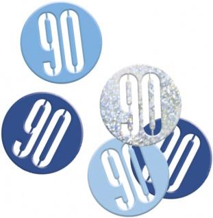 Deko Konfetti Blue Dots Glitzer zum 90. Geburtstag