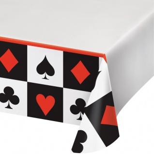 XXL 61 Teile Poker, Casino Motto Party Deko Set 8 Personen - Vorschau 3
