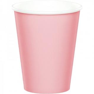 36 Teile Pink Chic Party Deko Set zum 70. Geburtstag in Rosa und Gold Glanz für 8 Personen - Vorschau 3