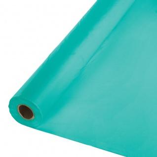 30 Meter Rolle Plastik Tischdecke Lagunen Blau