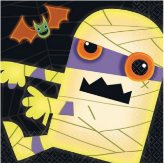 16 Servietten Halloween Monster