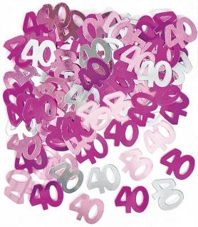40. Geburtstag Deko Konfetti Pink