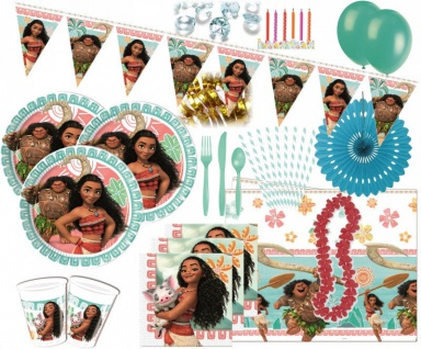 101 Teile Disney Vaiana Party Deko Set für 8 Kinder