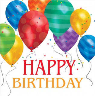 16 Geburtstags Servietten bunte Ballons Party