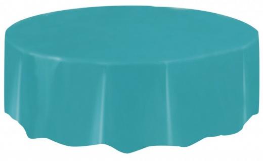 Runde Plastik Tischdecke Karibik Blau