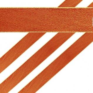 Glitzerndes Geschenkband in Rot und Gold 4 cm breit 2 Meter lang