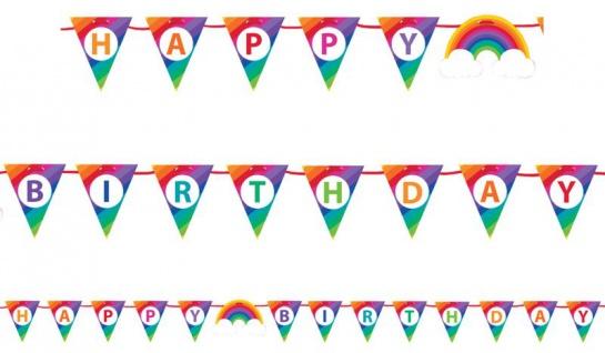Geburtstags Girlande bunter Regenbogen