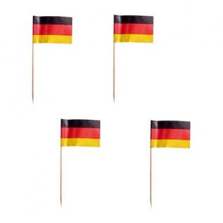 200 Party Picks Deutschland Fähnchen