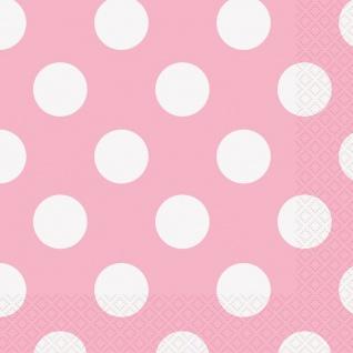 16 Servietten Baby Rosa Punkte