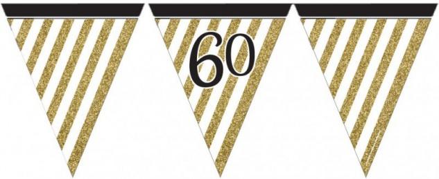34 Teile Dekorations Set zum 60. Geburtstag oder Jubiläum - Party Deko in Schwarz & Gold - Vorschau 3