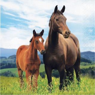 16 Servietten Wilde Pferde
