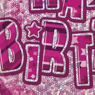 32 Teile zum 18. Geburtstag Glitzer Party Set in Pink für 8 Personen - mit Glitzer Effekt! - Vorschau 5