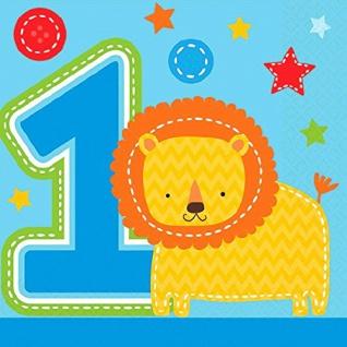 16 kleine Servietten Erster Geburtstag Spaß Blau