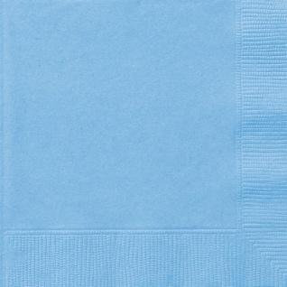 20 kleine Servietten Hellblau