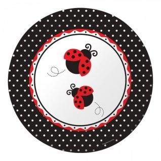 8 große Marienkäfer Teller