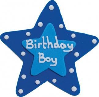 Zucker Stern Birthday Boy Plakette 7, 5 cm