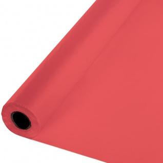 30 Meter Rolle Plastik Tischdecke Korallen Rot