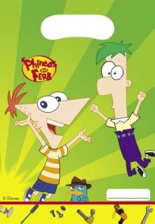 6 Phineas und Ferb Mitgebsel Tüten
