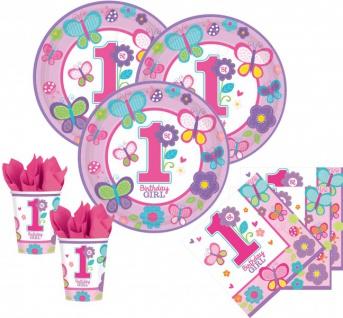 32 Teile Erster Geburtstag Sweet Girl Party Deko Set 8 Personen