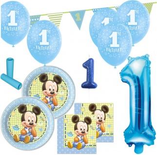 56 Teile 1. Geburtstag Baby Micky Maus Party Deko Set für 8 Kinder