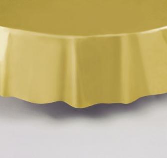 Plastik Tischdecke Rund Goldbraun