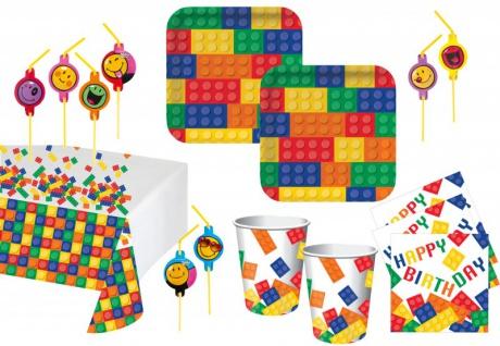 68 Teile Bausteine Party Set für 16 Kinder