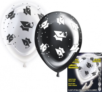 5 LED Ballons Abi + Examen