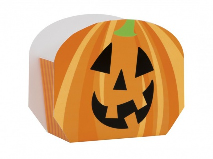 8 Halloween Pappschachteln Kürbis