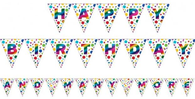 Geburtstags Girlande schimmernder Regenbogen