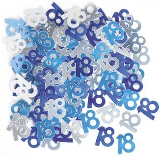 18. Geburtstag Deko Konfetti Blau