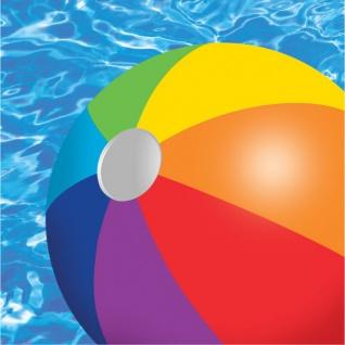 16 kleine Sommer Party Servietten Wasser Spaß