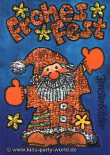Fensterbild Postkarte Weihnachtsmann