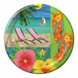 8 kleine Teller Hawaii Party