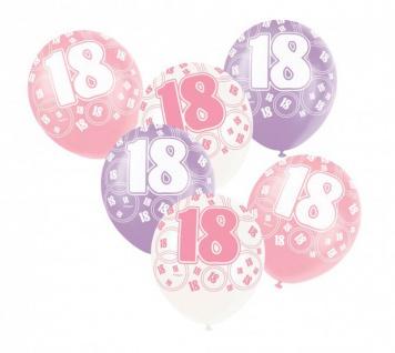 24 Luftballons zum 18. Geburtstag in Pink