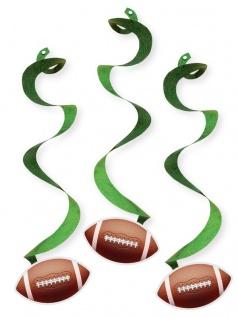 3 hängende Swirl Girlanden American Football Superbowl