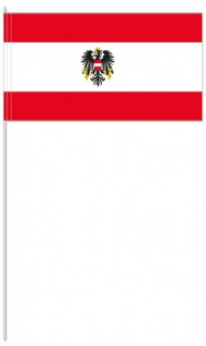 10 Papier Flaggen Fähnchen Österreich