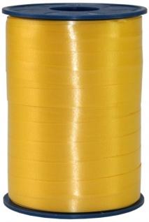 Geschenk oder Ballonband Gelb 10mm 250 Meter Rolle