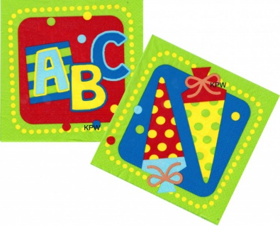 20 Servietten + Girlande + 5 Luftballons + Konfetti zum Schulanfang - Vorschau 3