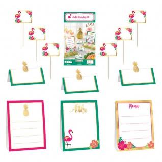 12 Teile Aloha in Pink und Gold Buffet Dekorations Set