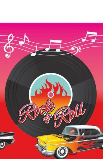 Tischdecke 50er Jahre Rock'n Roll Motto Party