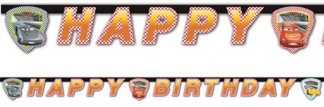 Geburtstags Girlande Cars 3