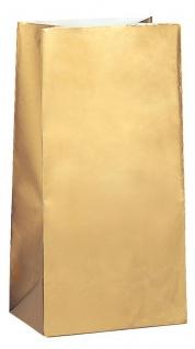 10 Papiertüten Gold