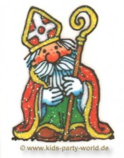 Mini Glitzer Fensterbild Nikolaus