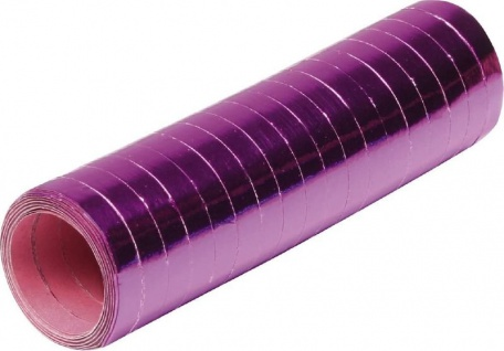 Luftschlangen in Pink Metallic - 1 Rolle a 18 Stück