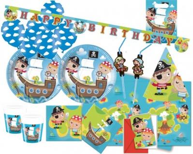 XXL 68 Teile Piraten Kinder Party Deko Set 6-8 Kinder