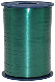 Geschenk oder Ballonband Smaragd Grün 5mm 500 Meter Rolle